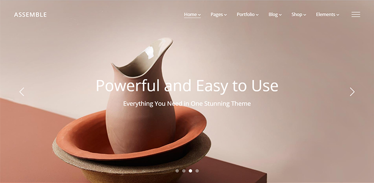Assemle Portfolio WordPress Theme