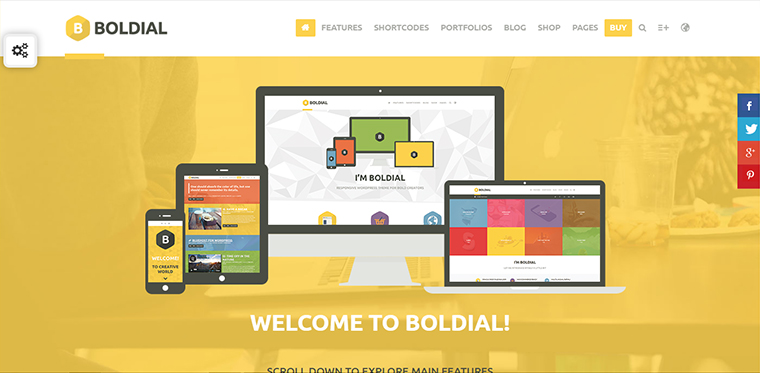 Boldial Portfolio WordPress Theme