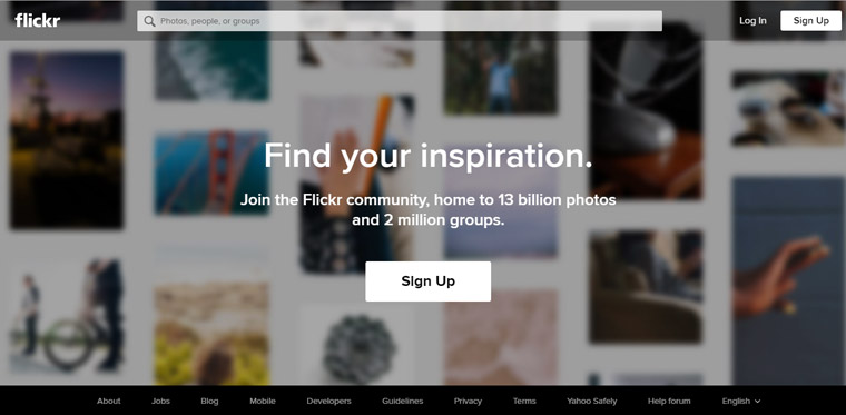 Flickr photo sharing site