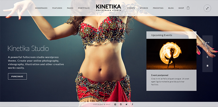 Kinetika Portfolio WordPress Theme