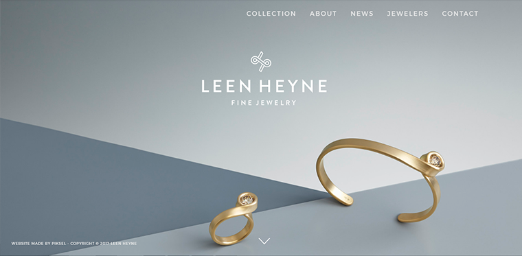 Jewelry web design inspiration
