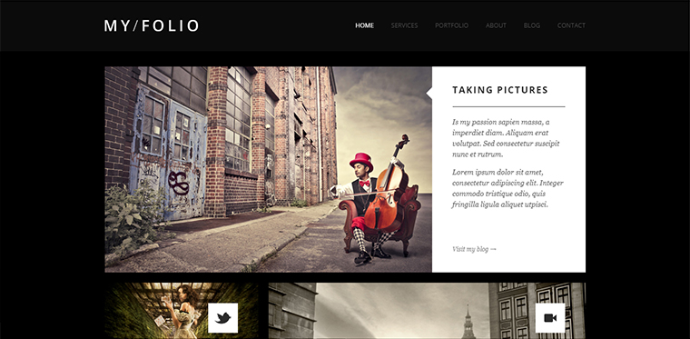 Myfolio Portfolio WordPress Theme