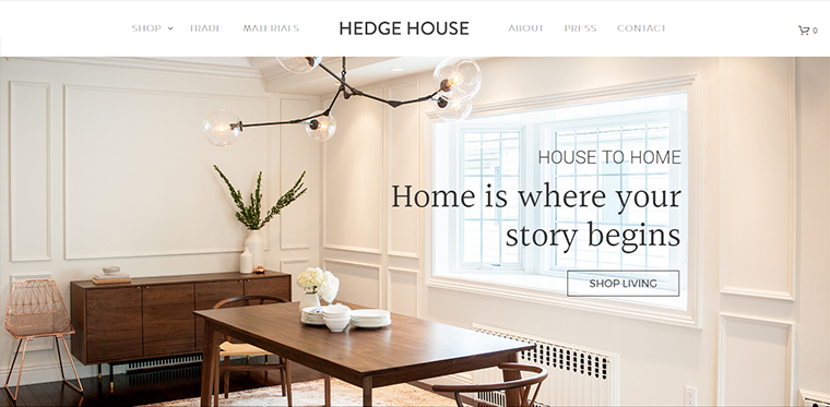 furniture web design inspiration