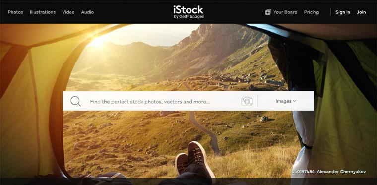 iStock photo sharing site