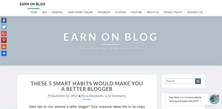 blogging web design