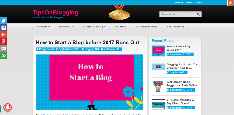 blogging tips website