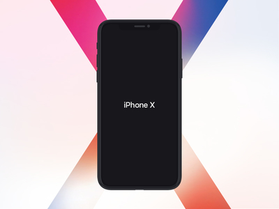 iPhone X Flat Mockup Free
