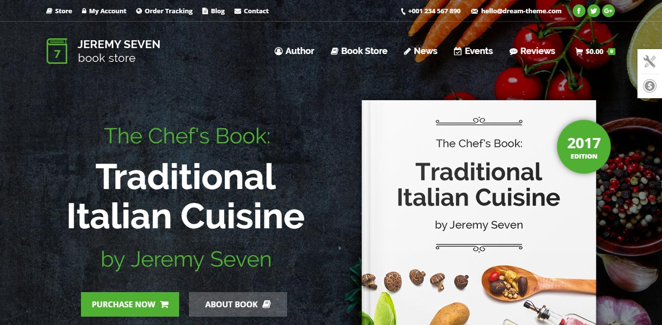 recipe web design inspiration