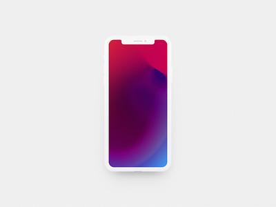 iPhone X Flat Mockup