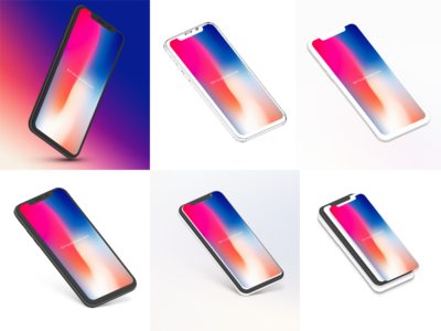 iPhone X Mock up bundle