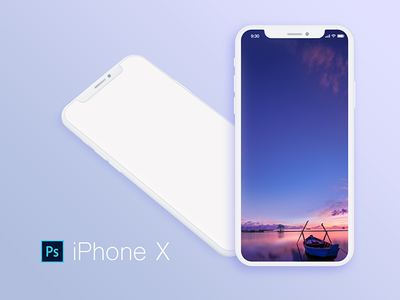 iPhone x Mockup White