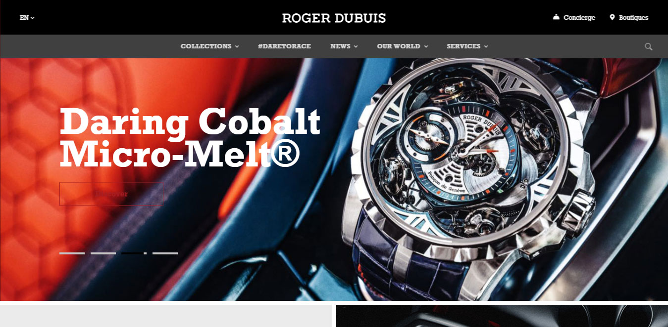 Watches Web Design Inspiration