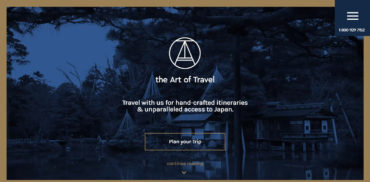 travel web design inspiration