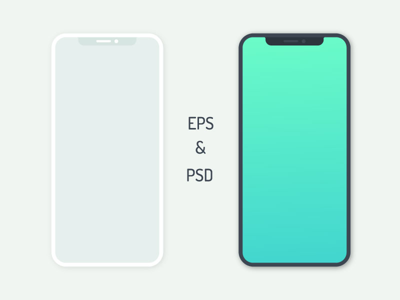 iphone x psd & eps