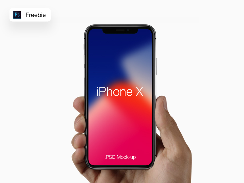 iPhone X Free Hand Mockup