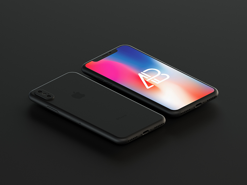 Matte Black iPhone X Mockup