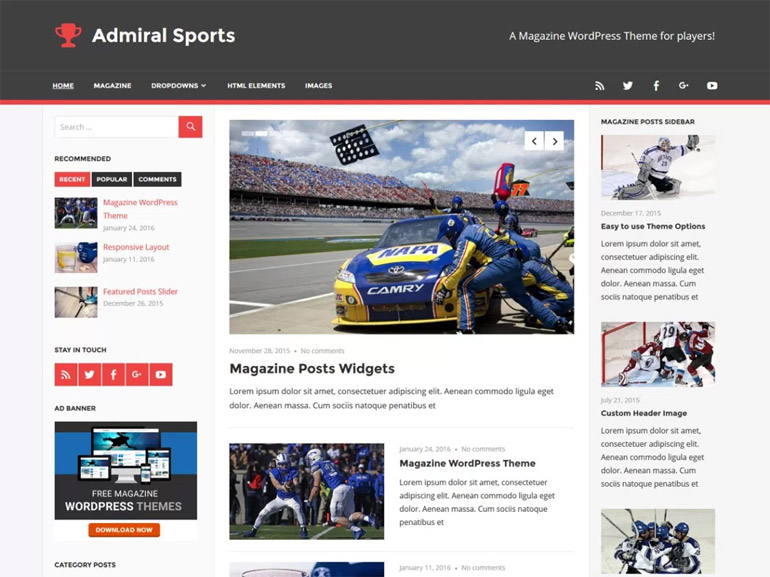 modern wordpress blog themes
