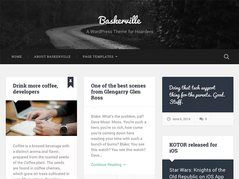 blog wordpress themes responsive