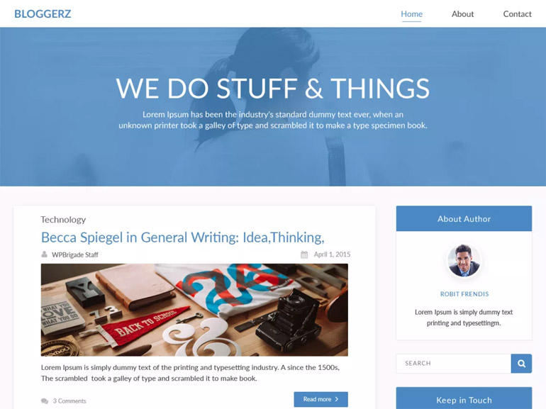 cool free wordpress blog themes