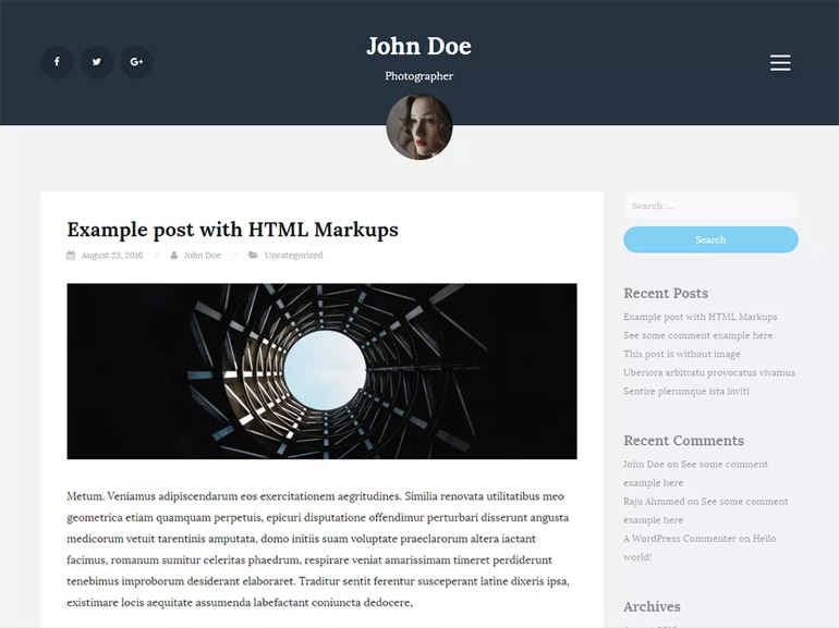 wordpress blog themes for photographers