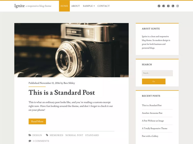 great free wordpress blog themes