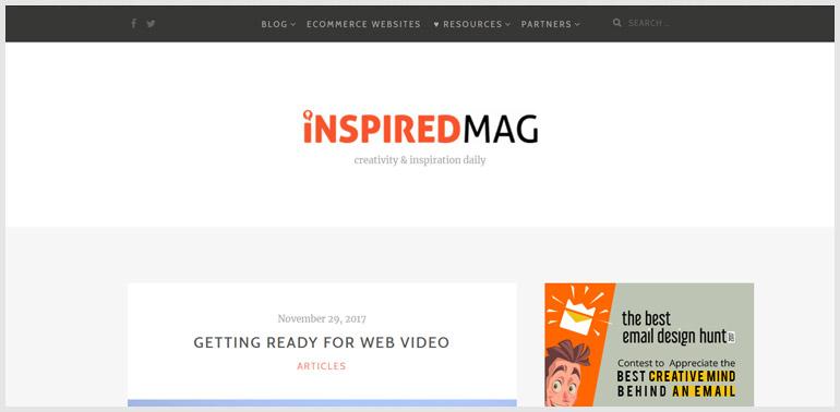 Web Design Magazine for inspiration