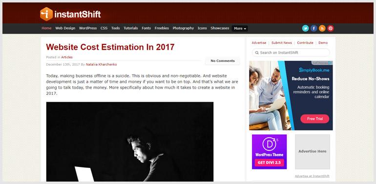 InstantShift - Best Web Design Blog