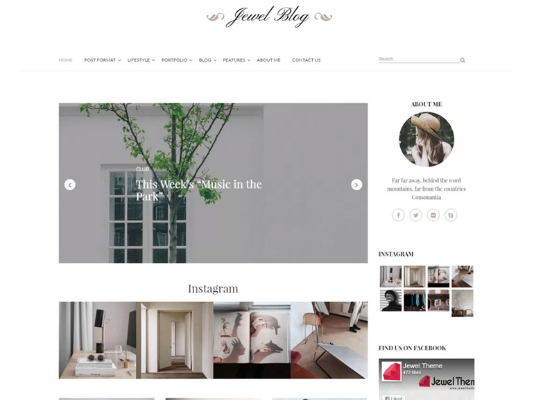 wordpress jewel blog themes