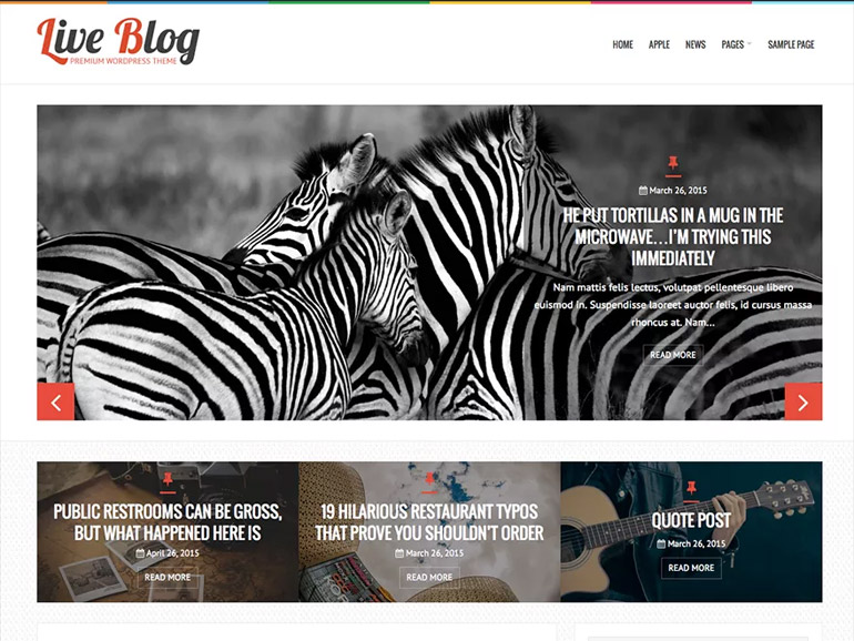 wordpress blog site themes
