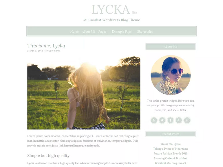 wordpress personal blog themes