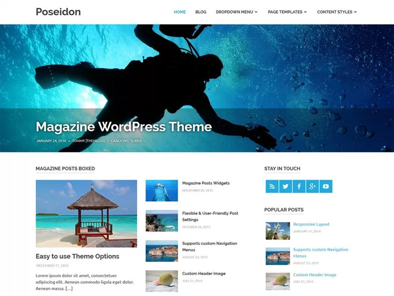 wordpress themes for a blog