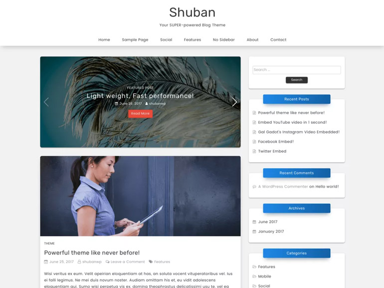 clean wordpress blog themes