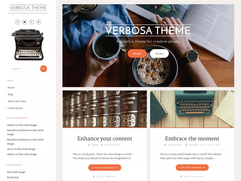top wordpress blog themes