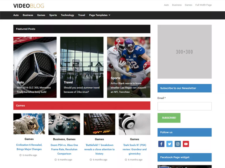 best video blog wordpress themes