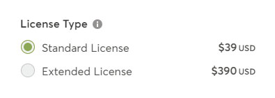 logo selling license types