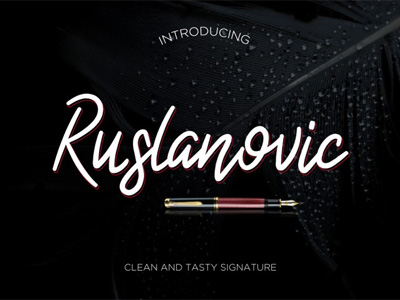 Signature Typeface Web Design