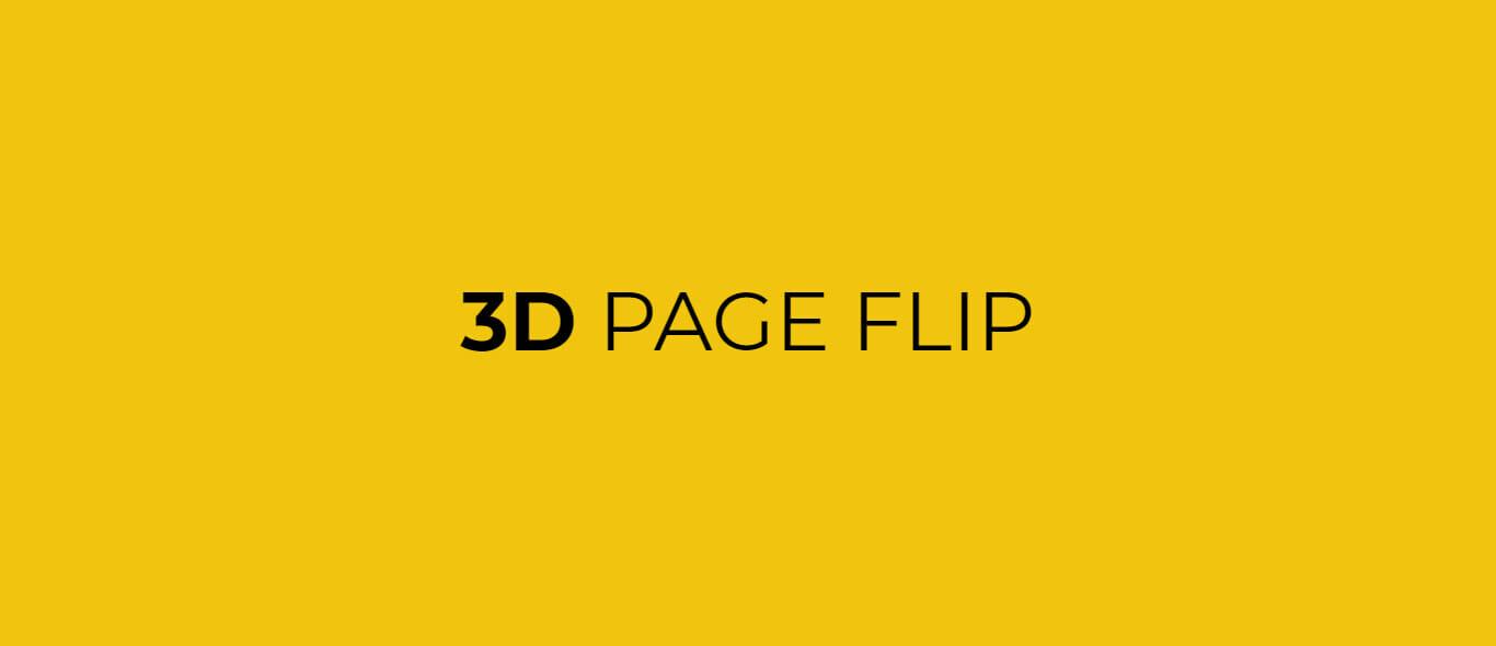 3D Page Flip Transition