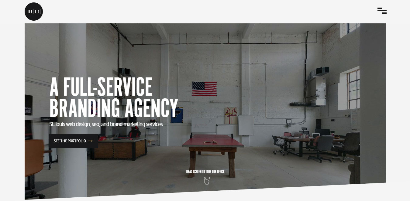 Simple web design ideas delt a full services branding for Full service design agency
