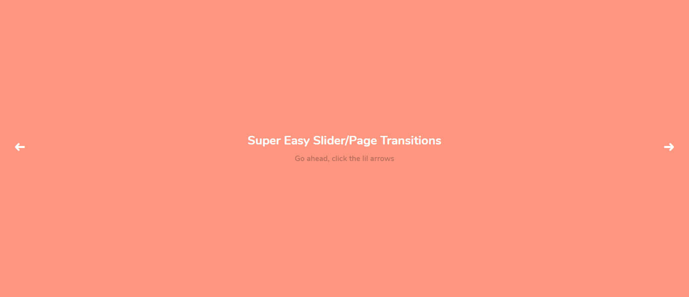 Easy CSS Page Transition effects example