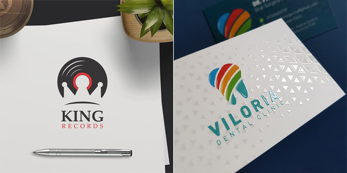 logo presentation mockup