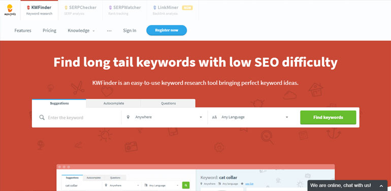 Long tail keyword research and analysis tool