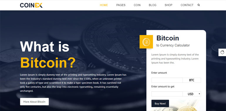 Bitcoin And Crypto Currency HTML Template