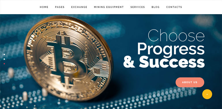 Mining and Cryptocurrency WordPress Theme