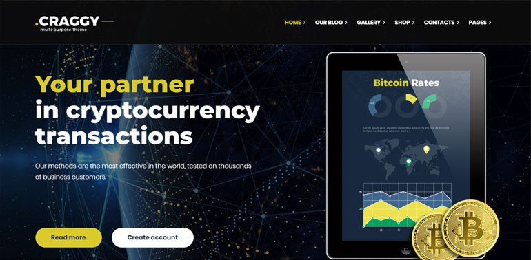 Bitcoin Crypto Currency WordPress Theme