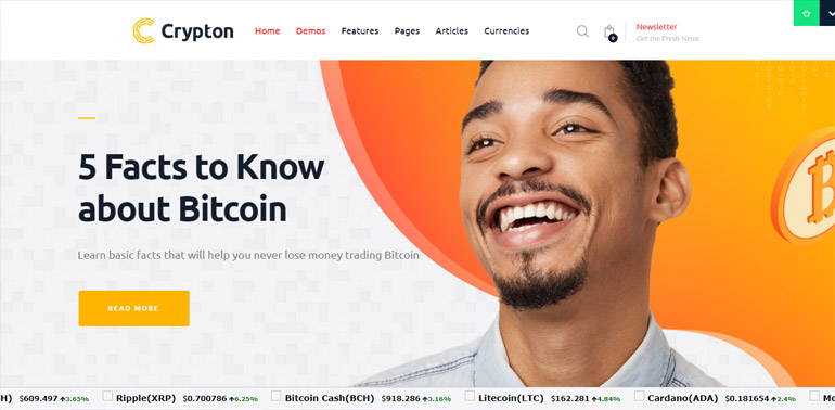 Crypton Cryptocurrency WP Theme