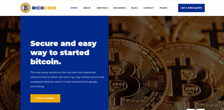 Bitcoin Crypto Currency Template