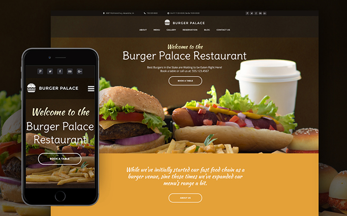 Fast Food Restaurant Responsive WordPress Theme