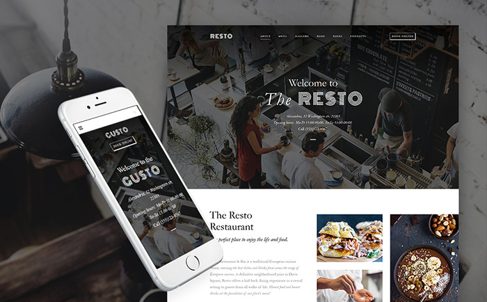 Gusto - Restaurant WordPress Theme