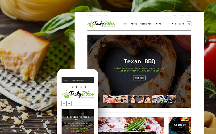 Food Blog Responsive WordPress Theme