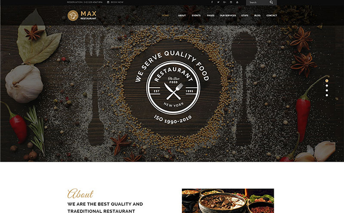 Max - Restaurant WordPress Theme